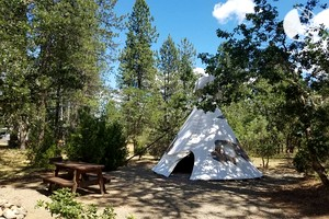 Luxury Camping Tipis near Siskiyou National Forest, Oregon