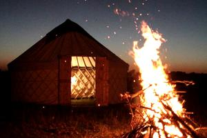 Luxury Pop-Up Yurts for Events and Luxury Camping Trips in the UK