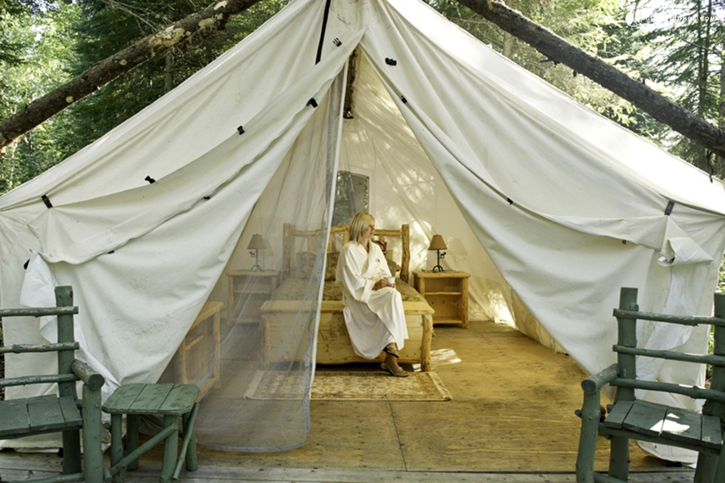 Luxury canvas tent rental - glamping