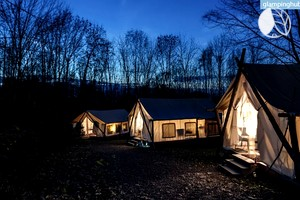 Luxury Safari Tents in Enchanting Finger Lakes Region, Upstate New York