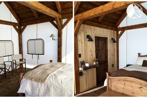 Luxury Tents for Two to Four with Deluxe Decor near Colorado Springs