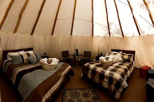 Luxury Tipis of All Sizes at All-Inclusive, Eco-Friendly Adventure Resort in British Columbia