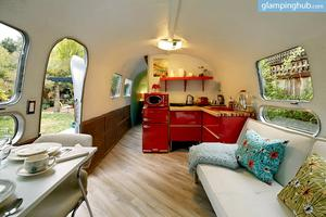Mix Vintage and Modern in 1969 Luxury Airstream for Two near San Francisco, California