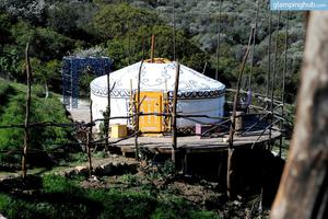 Mongolian Yurt Tucked Away in Malibu Mountains, California