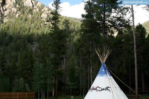 Native American Tipis in Breathtaking Wilderness Area in Colorado