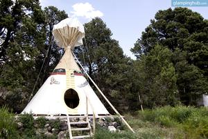 Native American Tipis in Scenic Canyon Country, Utah