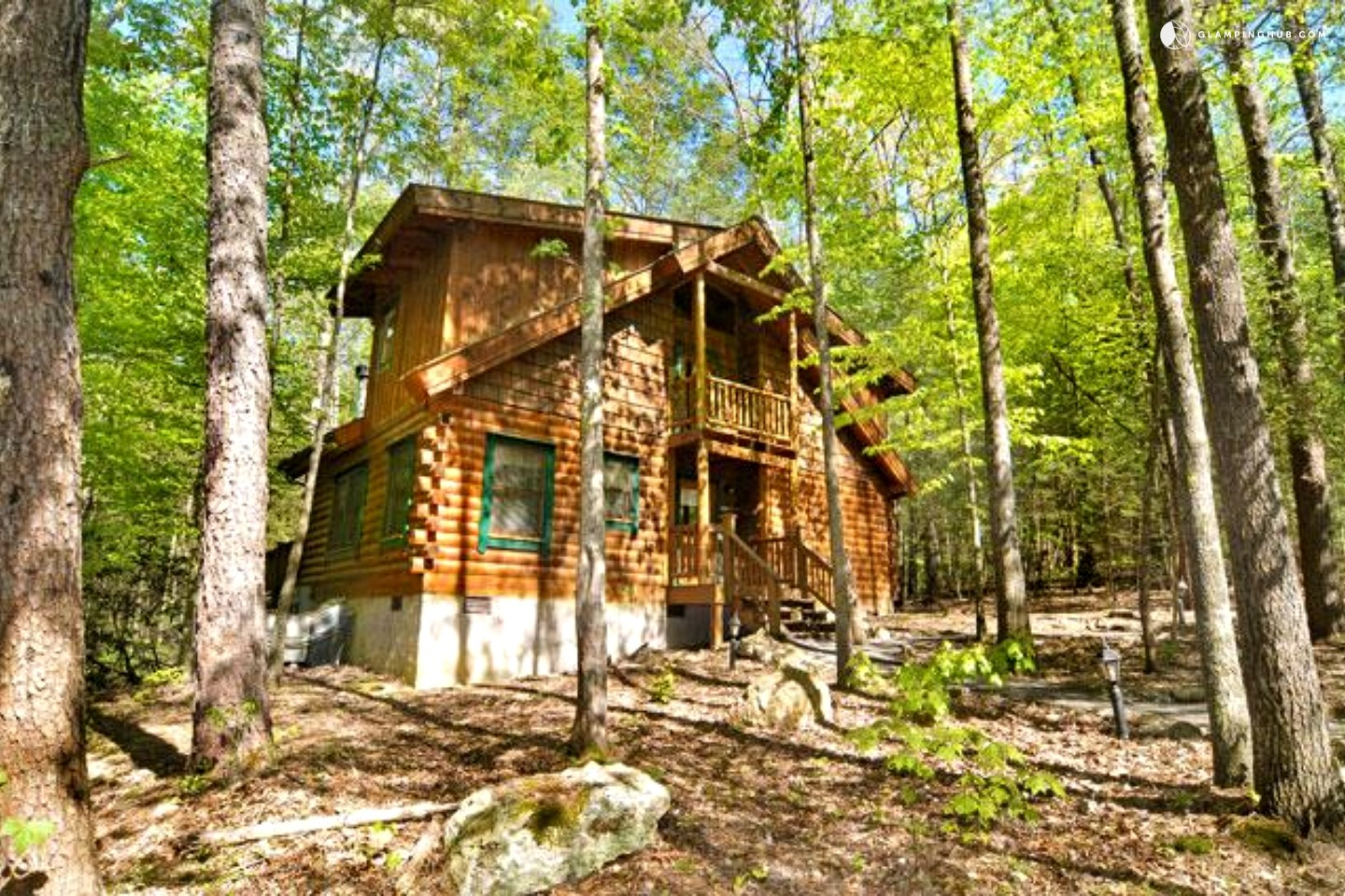 Log cabin rental near asheville for Cabin rentals near smoky mountains