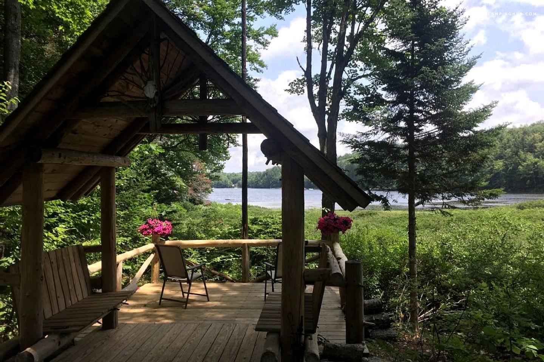 Lakefront Log Cabin Rental In Adirondack Park