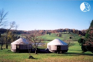 Peaceful Yurts Tucked into Hidden Valley in Indiana