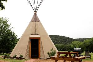 Traditional Tipis with Fully Modern Interiors, Texas