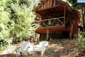 Rustic Cabin along Trinity River in Northern California