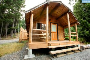 Rustic Log Cabins on Luxury Camping Resort, British Columbia