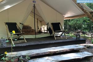 Rustic Luxury Tents in Adirondack Mountains, New York