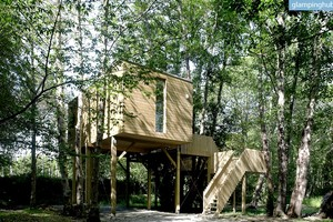 Simple, Elegant Tree Houses Secluded Among Forest, Spain