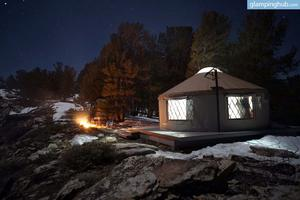 Skiing Adventures from Solar-Powered Yurt in Ruby Mountains, Nevada