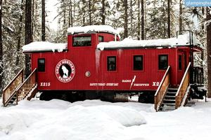 Sleep in a Unique Caboose near Beautiful Glacier National Park, Montana