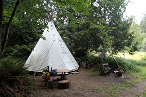 Snug and Comfortable Tipi on Organic Family Farm, Canada