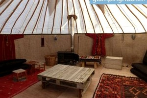 Spacious Yurt For Large Groups in the Scottish Countryside with Mountain Views