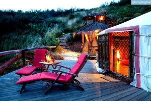 Spacious Yurt with Private Deck in Algarve, Portugal