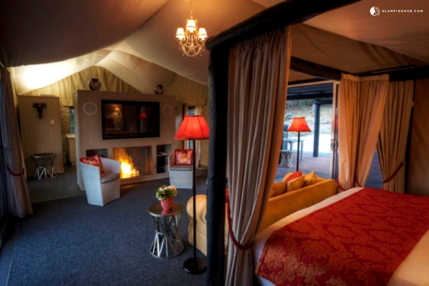 Luxury Tents Stanthorpe With Spa Au Cabin Tents With Hot Tub
