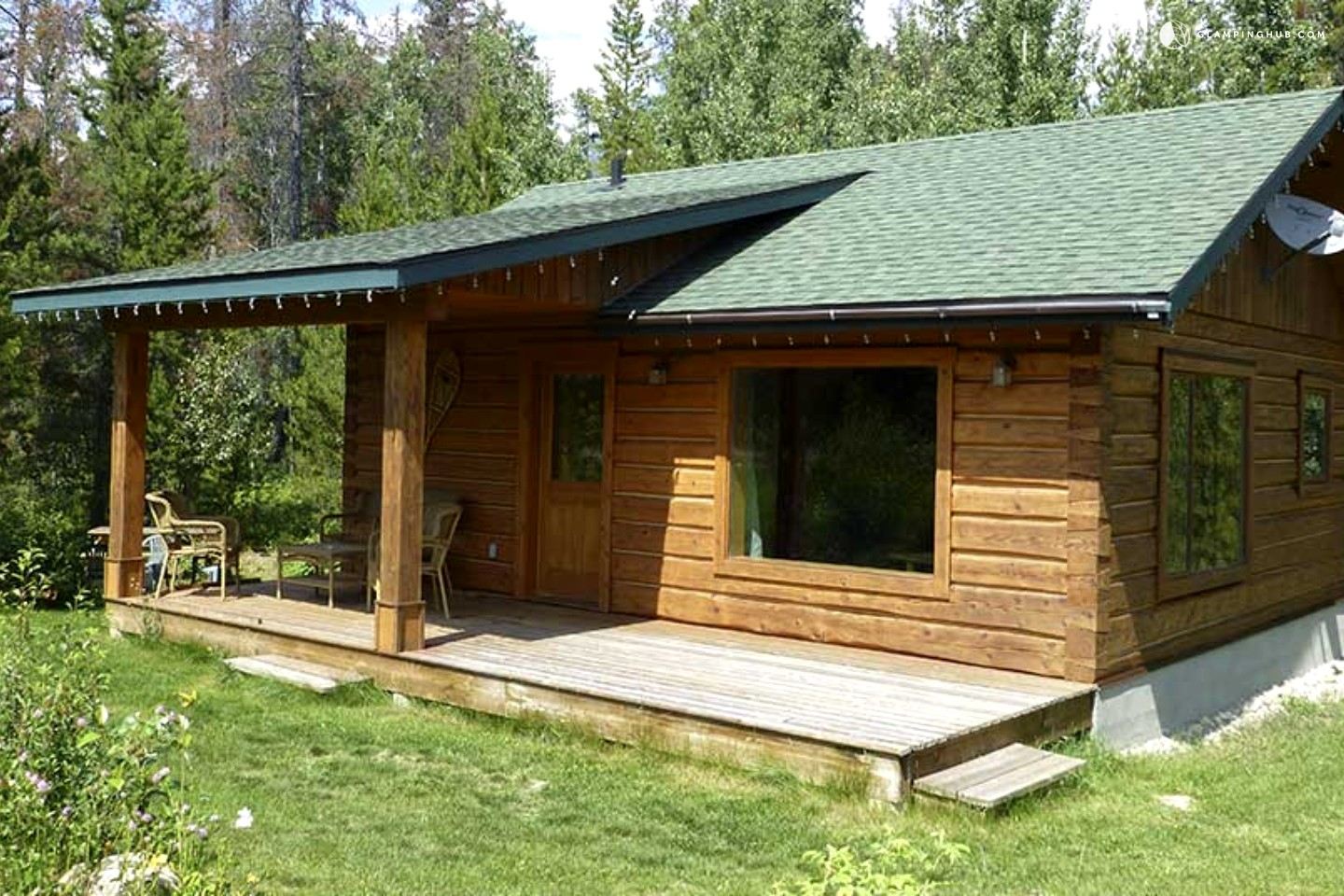 Log cabin rental in british columbia luxury camping in for Nearby campgrounds with cabins