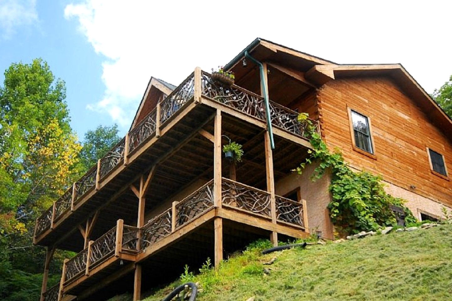 Log cabin rental near asheville for Asheville nc luxury cabin rentals