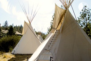 Tipi Camping at Family-Friendly Whitewater Rafting Resort, British Columbia