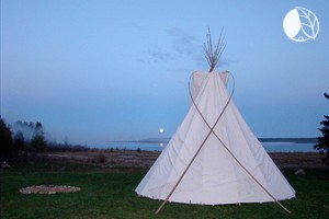 Authentic Tipi Camping Adventure on Manitoulin Island, Ontario