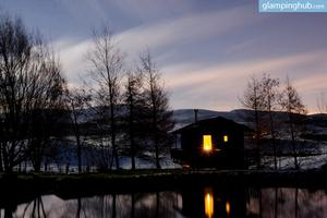 Lochan Cabins on Family Farm in Scottish Countryside