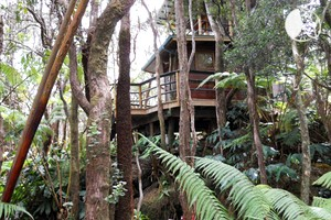 Treehouse Hotel Located Next to Hawaii Volcanoes National Park, Big Island, Hawaii