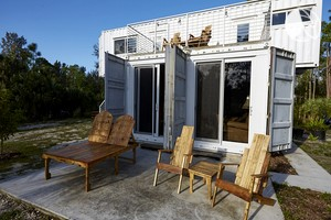 Up-Cycled Shipping Container Transformed into Luxury Accommodation, Florida