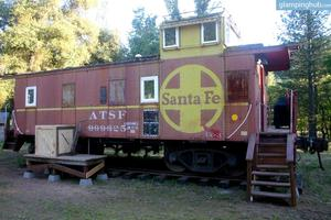 Vintage Santa Fe Caboose Luxury Rental near Yosemite National Park, California
