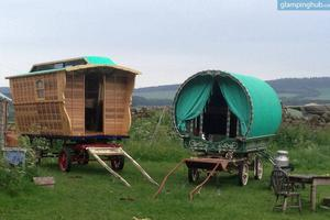 Static and Horse-Drawn Gypsy Caravans in Cumbria, England