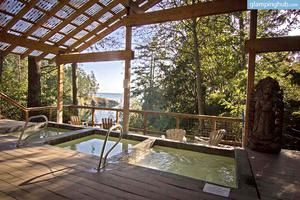Yurts on Relaxing Resort in San Juan Islands, Washington