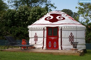 Well-Equipped Yurts on Clothes-Optional Site in Norfolk, England