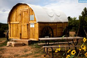 Rustic Western Glamping Wagons at Activity-Filled Site near Zion National Park in Utah