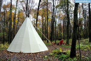 Woodsy Tipi for a Family-Fun Forest Vacation in Maryland