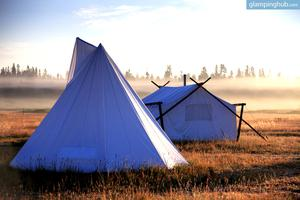 Stunning Deluxe Tents and Tipis in Yellowstone, Montana