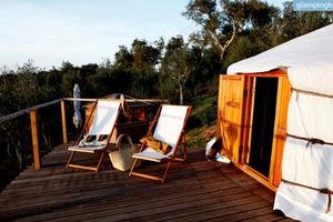 Lovely Yurts with Spectacular Views in Evoramonte, Portugal