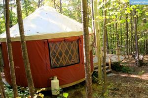 Cozy Yurt Retreat in the Mountains of Denmark, Maine