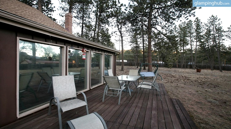 cabin with hot tub near colorado springs