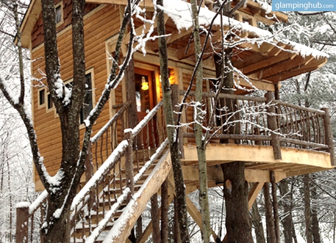 Brand New Two-Story Treehouse in the Green Mountains, Vermont