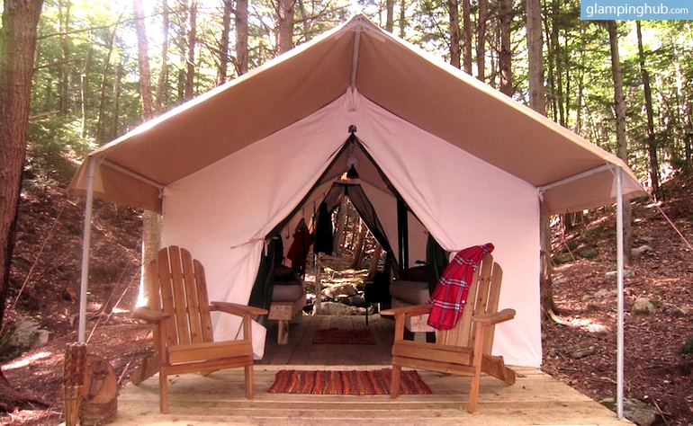 Fully Furnished Glamping Tents in Adirondack Mtns, NY (Hiking, Kayaking, Rafting)