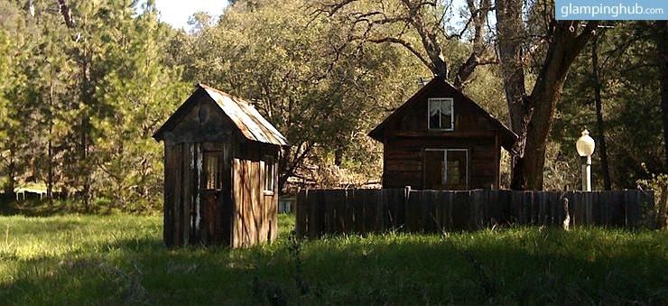 Rustic Cabin On Famous Old Yosemite Road California