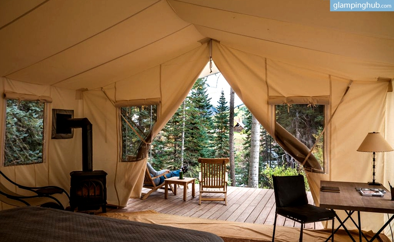 Canvas Tents In Luxury Colorado Rockies Resort Sophisticated