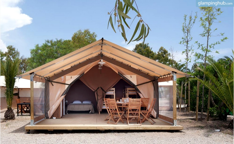 luxury beach tents in spain On cabins on the coast