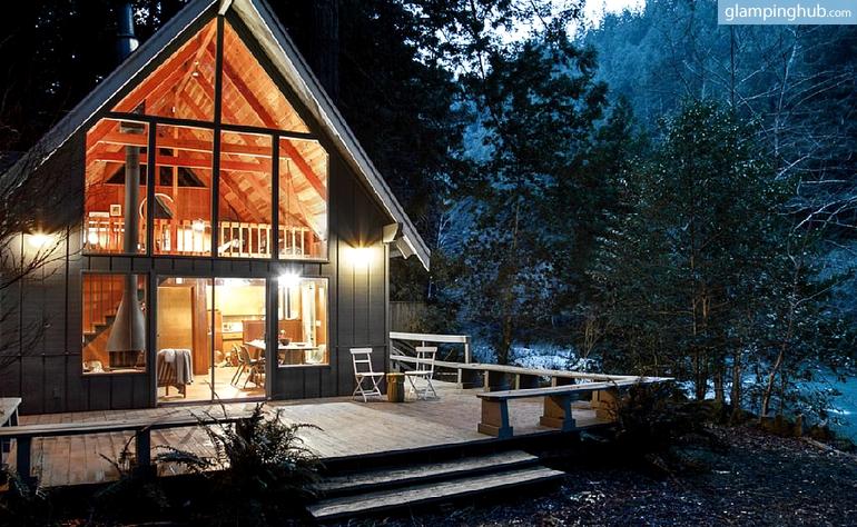 Northern california redwoods cabin rental for Cabin kits northern california