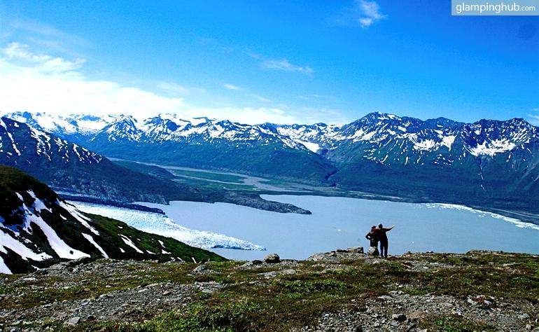 Cabins Amidst Untouched Alaskan Wilderness