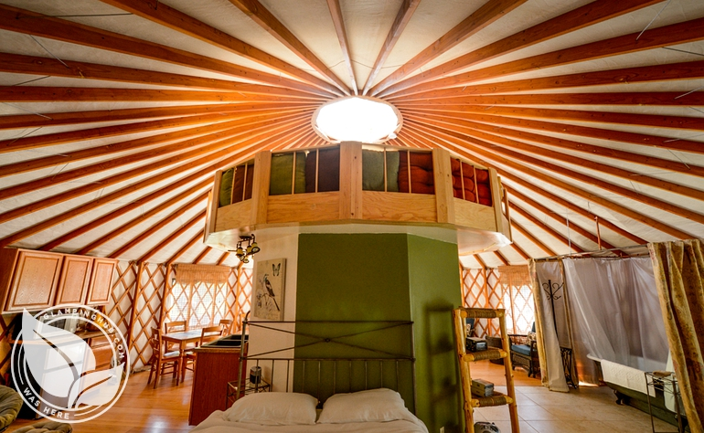 Fully Outfitted Yurt on Trinity River, Northern California