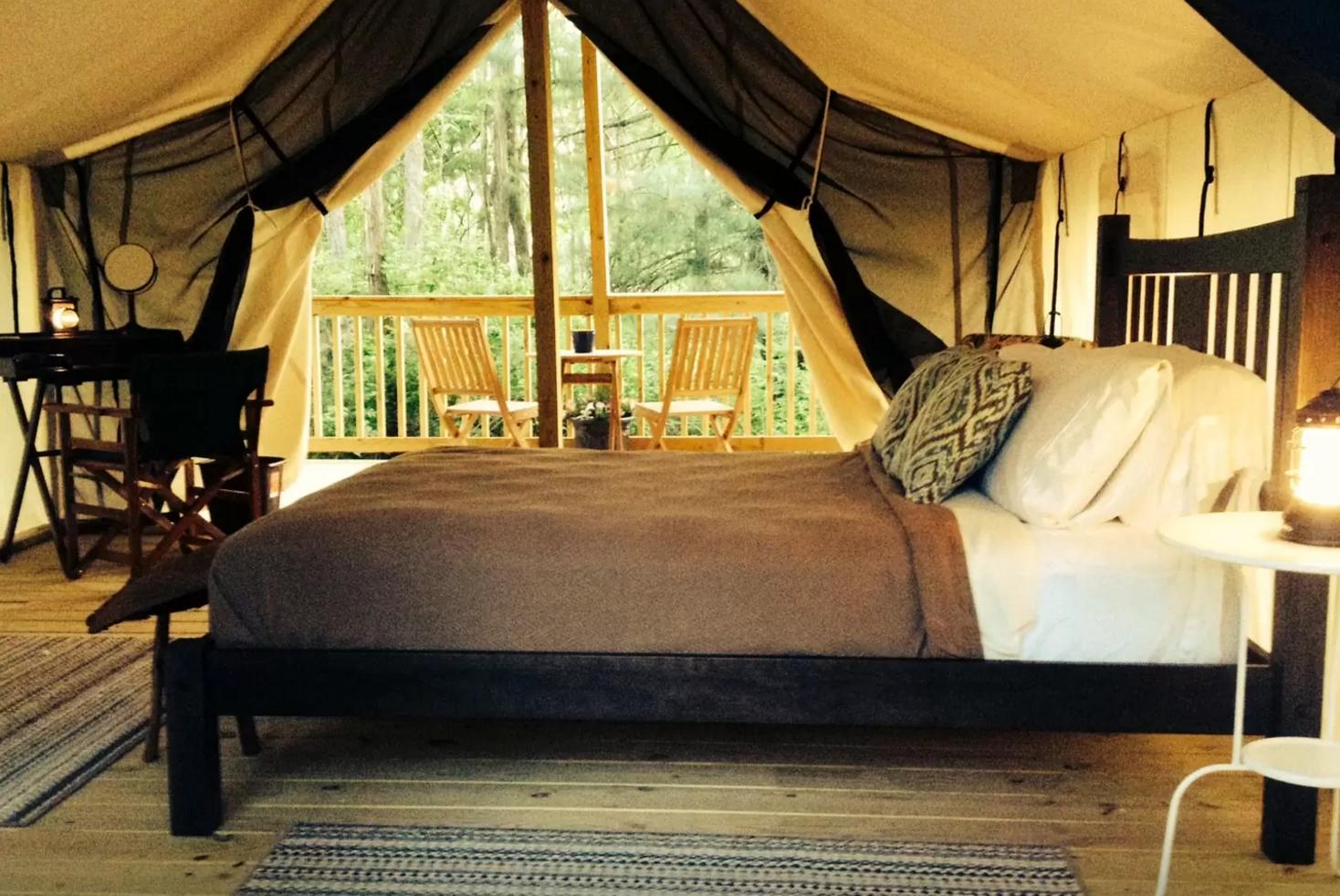 Cozy Safari Tent Camping Near Seneca Lake In Upstate New York